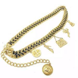 Chanel vintage charm chain belt